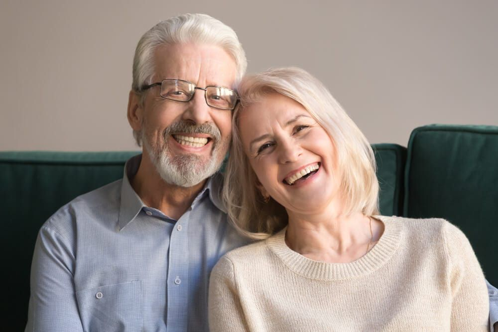 happy dental couple